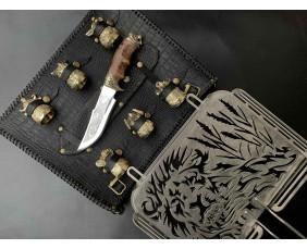 Решетка Лев с ножом и чарками