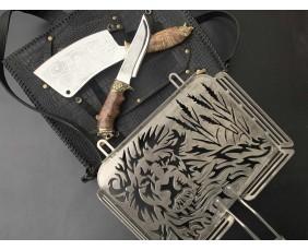 Решетка Лев с ножом и топориком 2
