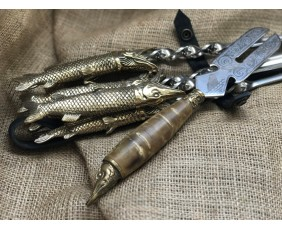 """Шампура подарочные """"Царская охота"""" с вилкой для снятия мяса"""