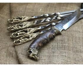 "Набор шампуров  ""Кабан"" с ножом"