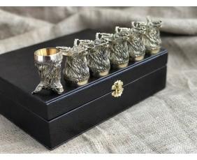 """Набор бронзовых чарок """"Благородство"""""""
